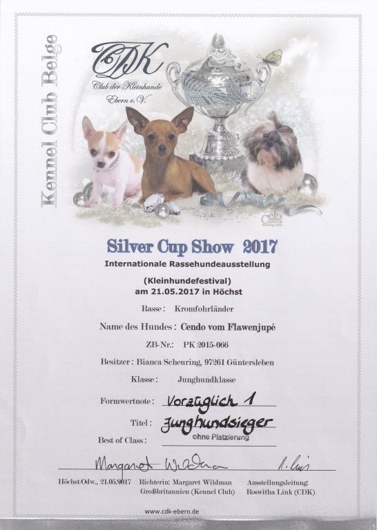 Urkunde CDK Silver Cup Show 2017-05-21